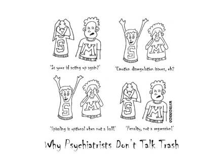 cartoon psychiatrists trash talk